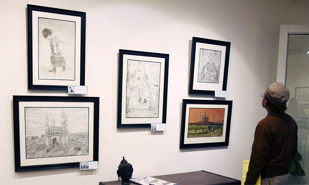 art exhibition at aifacs new delhi india