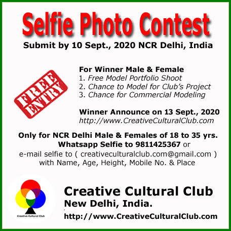 Delhi Selfie Photo Contest for Male Female Actors & Models of NCR Delhi India