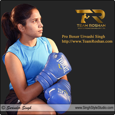 Professional Female Boxer Urvashi Singh in New Delhi India