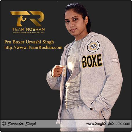 Professional Female Boxer Urvashi Singh in New Delhi India